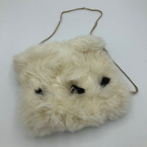 Vintage Victorian Real Fur Muff Wedding White